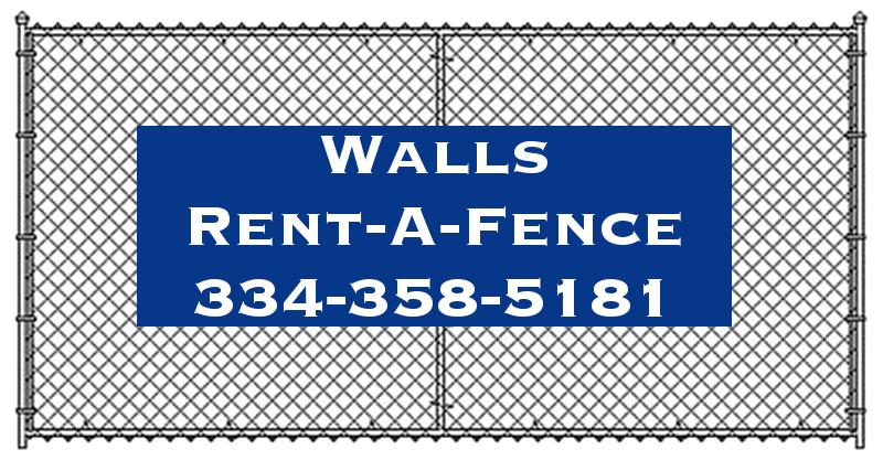 Walls Rent-A-Fence Logo